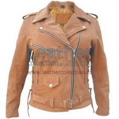 Ladies Brown Motorcycle Jacket is especially designed for professional bikers to fulfill their biking passion on track with great safety. This Jacket features excellent design, Protection & comfort, genuine leather, YKK Zippers for Performance
