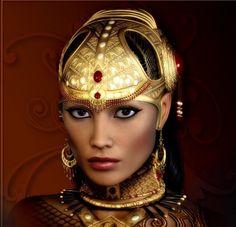 queen fantasy warrior | Warrior Queen - earrings, fantasy, queen, warrior, beautiful, female ...