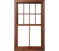 Windows - Architect Series Single-Hung Window (or double hung?). No line on the bottom. Wood Interior, soft white or cream exterior (match trim).