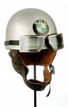 Vintage BMW Racing Helmet