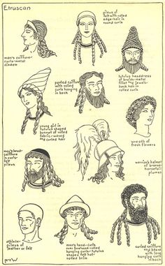 Ancient Etruscan Hair & Hats. Mystery of History Volume 1, Lesson 43 #MOHI43