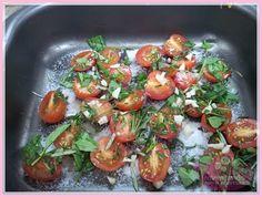 receita de massa Garganelli ao pesto de rúcula e tomatinhos confit