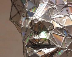 Sculpture made with upcycled cds, Jim Hake, The Crystals