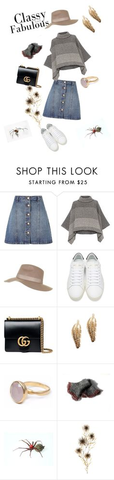 """""""Classy & fabulous"""" by dorota-kujawa ❤ liked on Polyvore featuring Anita & Green, Piazza Sempione, Topshop, Yves Saint Laurent, Gucci, Bohemia and C. Jeré"""