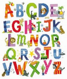 Children's Alphabet Sampler Cross Stitch Kit