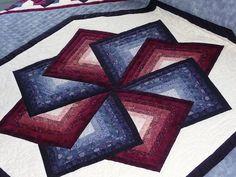 Amish Spinning Star Quilt Pattern cakepins.com