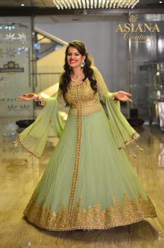 mint, jade green layered anarkali lehenga in soft net, gold and pastel…