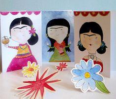 Frida Fiesta (Heidi M Mcdonald) Etiquetas: brightcolours Frida Kahlo acuarela ilustraciones arte popular mexicano de la fiesta greetingcards sugarskull littlenore fridakahlandcupcakes fridakahlogreetingcards drawingoffrida