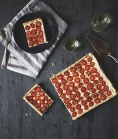 'Ricotta Tomato Tart' — easy recipe via; a Better Happier St. Sebastian