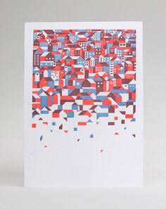 Vertical Deconstruction (letterpress print) // Andrew Holder