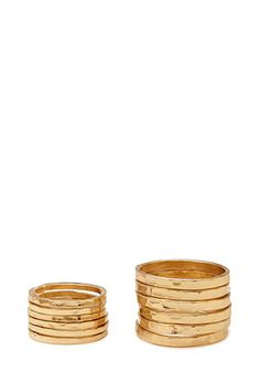 Dimpled Stackable Ring Set | FOREVER21 - 1000121604