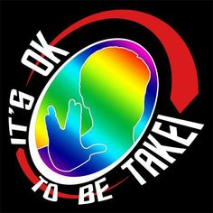 """Congratulations to Patrick Tolen whose """"It's OK to be Takei"""" logo won out among dozens of entries and received the highest votes among the three finalists!  Look for this logo as well on T-shirts, mugs, mouse pads and more, all proceeds donated.  Thank you all for your inspirational designs!"""