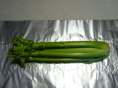 How to keep Celery Fresh Longer...up to 5 weeks, wrap it in tin foil...