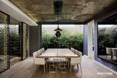 esszimmer rustikal moderne wohnung design in cape town