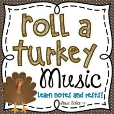 A free Music Roll game. It's a Turkey Game that helps beginner piano students learn notes and rests. And it's Thanksgiving themed.which is perfect this time of year Music Education Games, Music Activities, Movement Activities, Physical Education, Health Education, Music Games, Thanksgiving Songs, Thanksgiving Activities, Elementary Music Lessons