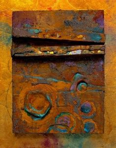 "CAROL NELSON FINE ART BLOG: Mixed Media Art Painting ""Relic"" by Colorado Mixed Media Artist Carol Nelson"