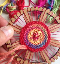 Everything you need to start circle weaving and making your own beautiful decorations. Why not weave a little flower to pin onto your