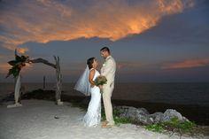 Beautiful sunset on the Jetty at Faro Blanco, as Love is all around us! #Jetty #Wedding #Ceremony #Arch #MarathonFlorist #SolarisPhotography #FaroBlanco #Ceremony #FlKeys #Tropical #Destination