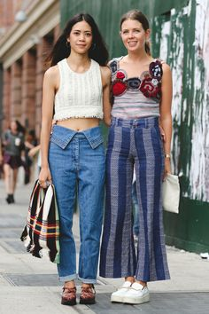 The Most Authentically Inspiring Street Style From New York #refinery29  http://www.refinery29.com/2015/09/93788/ny-fashion-week-spring-2016-street-style-pictures#slide-108  Denim duo....