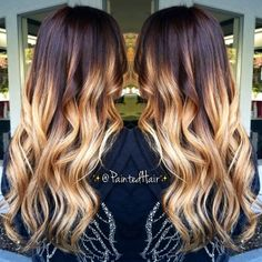 Ombre with long layers.❤