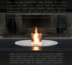 American Holocaust Museum, Washington D.C., USA - Eternal flame in the Hall of Remembrance