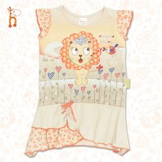 Hearts and Kisses Girls Swing Top