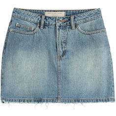 Marc by Marc Jacobs Denim Skirt ($89) ❤ liked on Polyvore featuring skirts, mini skirts, bottoms, blue, denim, short mini skirts, zipper skirt, button skirt, zipper mini skirt and denim button skirt