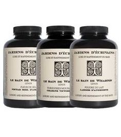 Le Bain de Wharton by Jardins d'Ecrivains, bath salts, cream and foam.