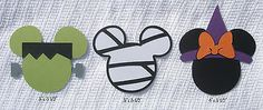 Scrap With Me *Pre-made Disney Scrapbook Embellishments Halloween Mickey Minnie