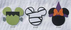 Scrap With Me *Pre-made Disney Scrapbook Embellishments Halloween Mickey Minnie