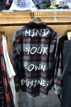 reasonclothing told us, but we didn't listen so we could share the attitude of this back-graphic flannel shirt taken at agendashow