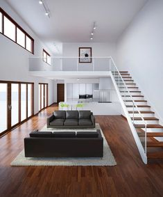 80 Super Cool Modern Home or Apartment Interior Ideas www.futuristarchi… 80 Super Cool Modern Home or Apartment Interior Ideas www. Loft Design, Tiny House Design, Design Case, Modern House Design, Modern Interior Design, Interior Architecture, Interior Ideas, Loft House, Apartment Interior