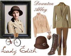 """get the look - lady edith"" by onceuponanovel on Polyvore"