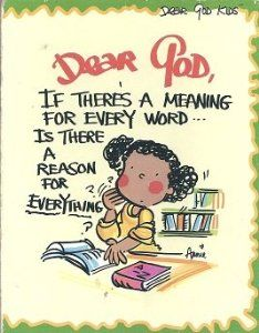 Dear God, If There's a meaning for every word..Is there a reason for everything: Annie Fitzgerald: 9781577553311: Amazon.com: Books