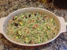Quinoa salad, tasty!  Pinned from PinTo for iPad 