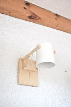 Wall lamp / sconce light , mat white… eco friendly and handmade : recycled from tomato can ! Recycling, Fresh Shop, Canning Tomatoes, Can Lights, Luz Led, Led Lampe, Cafe Design, Sconce Lighting, Save Energy