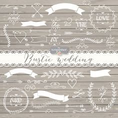 Vector rustic wedding by burlapandlace on Creative Market