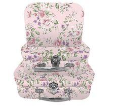 Pink Vintage Floral Storage cases Suitcase Storage, Suitcase Set, Storage Boxes, Harry Potter Mermaid, Mermaid Slime, Little Cherubs, Small Case, Vintage Floral, Design Trends