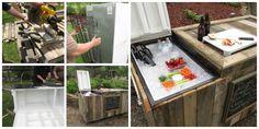 Aprovecha tu vieja nevera y conviértela en el objeto estrella de tu jardín. Outdoor Refrigerator, Diy Cooler, Beer Garden, Arduino, Ideas Para, Eco Friendly, Homemade, Houses, Gardening
