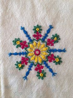 Hand Embroidery Projects, Hand Embroidery Dress, Hand Embroidery Videos, Embroidery Works, Simple Embroidery, Indian Embroidery, Hand Embroidery Stitches, Hand Embroidery Designs, Embroidery Applique