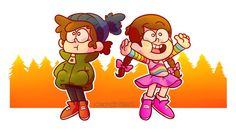 hope ya like Gravity falls — Mystery twins throughout the ages