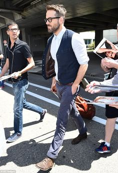 Just landed: Ryan Reynolds was seen arriving at Nice Cóte d'Azur International Airport on Thursday on day two of the Cannes Film Festival