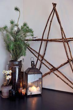 Sfeervolle kerstdecoratie hoeft niet duur te zijn. Ga aan de slag met het stappenplan en bamboetakken en je hebt een mooie kerstster voor een prikkie!