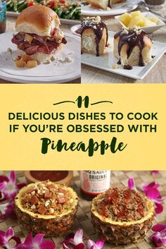 Pineapple is great on pizza. Pineapple is great on sandwiches. Pineapple is great by itself. Pineapple is life. Pineapple lovers, journey to new horizons and try one of these pineapple-themed recipes during Hawaiian Foods Week. Samoan Food, Crockpot Recipes, Cooking Recipes, Diet Recipes, Healthy Recipes, Proper Tasty, Carribean Food, Pineapple Recipes, Dog Treat Recipes