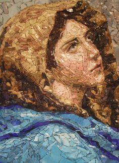 School of Mosaic, Spilimbergo, Italy. Mosaic Tile Art, Mosaic Crafts, Mosaic Projects, Stone Mosaic, Mosaic Glass, Glass Art, Mosaic Artwork, Stained Glass, Mosaic Furniture