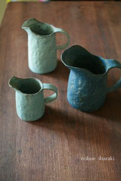 small pitchers by Nobue Iboraki