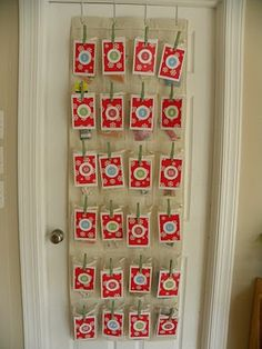 homemade advent calendars - this one uses a shoe organizer! cheap and easy - i'm in! Winter Holidays, Christmas Holidays, Christmas Crafts, Christmas Ideas, Happy Holidays, Xmas, Days Until Christmas, All Things Christmas, Homemade Advent Calendars