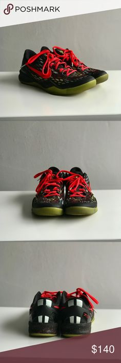 """KOBE 8 SYSTEM """"CHRISTMAS"""" Worn just a few times in an indoor basketball court, no outdoor use. Great condition. Men's basketball """"Kobe 8"""" Special edition!!! Nike Shoes Sneakers"""