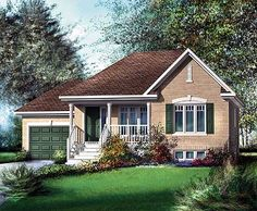 Traditional Bungalow House Plan - 80362PM | Traditional, Canadian, Metric, Narrow Lot, 1st Floor Master Suite, CAD Available, PDF | Architectural Designs