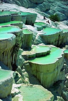 Most Incredible Places On Earth. Natural Rock Pools in Pamukkale, Turkey.